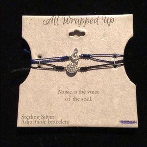 All Wrapped Up Music Note Adjustable Bracelet Set